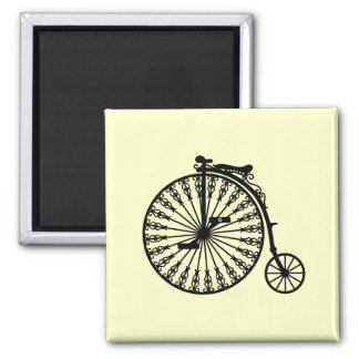 Penny-farthing Square Magnet