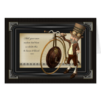 Penny Farthing Steampunk Greetings Card