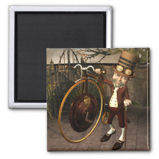 Penny Farthing Steampunk Magnet