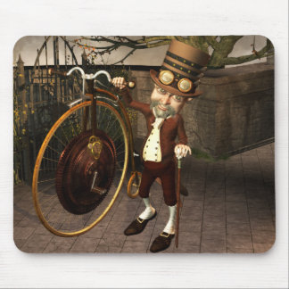 Penny Farthing Steampunk Mouse Pad