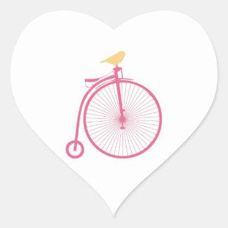 Penny Farthing Heart Sticker