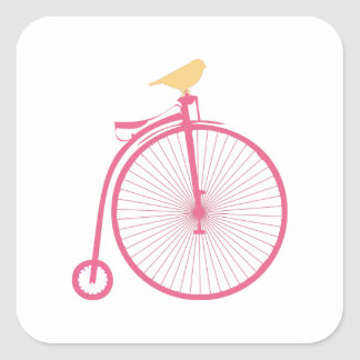 Penny Farthing Square Sticker
