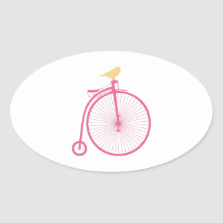 Penny Farthing Oval Sticker