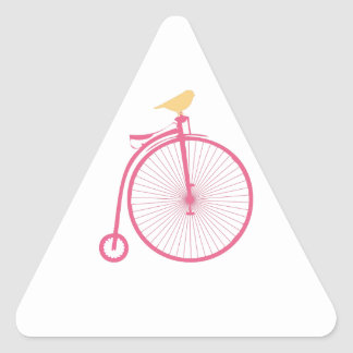 Penny Farthing Triangle Sticker