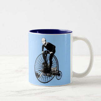 Penny Farthing Vintage Bicycle Art Two-Tone Coffee Mug