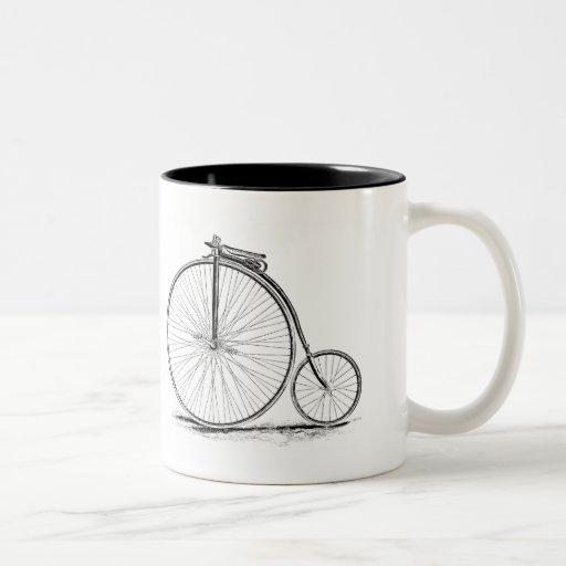 Penny Farthing Vintage High-Wheel Bicycle Coffee Mugs