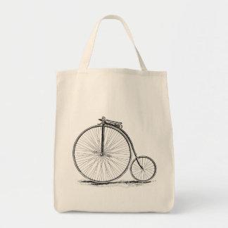 Penny Farthing Vintage High-Wheel Bicycle Tote Bag