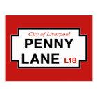 Penny Lane, Street Sign, Liverpool, UK Postcard