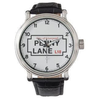 Penny Lane, Street Sign, Liverpool, UK Wrist Watches
