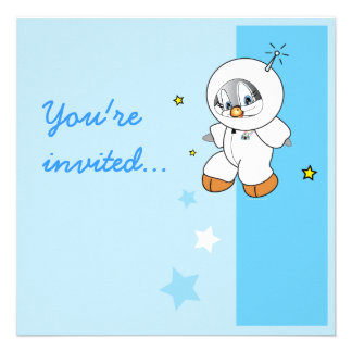 Penny Penguin Astronaut Invite