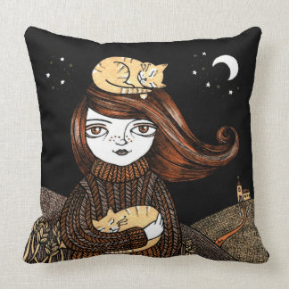 Penny s Pusscats Throw Pillow