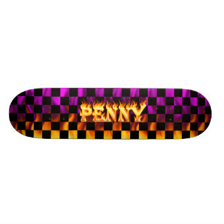 Penny skateboard fire and flames design.