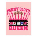 Penny Slots Queen Postcard