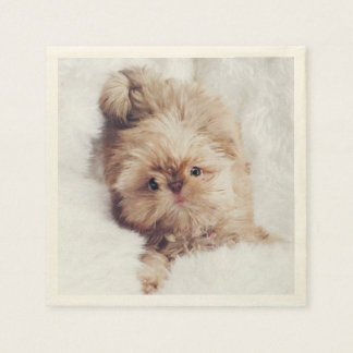 Penny the orange liver Shih Tzu puppy napkins Paper Napkin