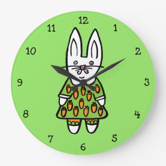 Penny the Rabbit Large Clock