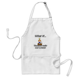 penny thoughts adult apron