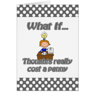 penny thoughts stationery note card