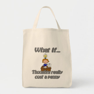 penny thoughts canvas bags