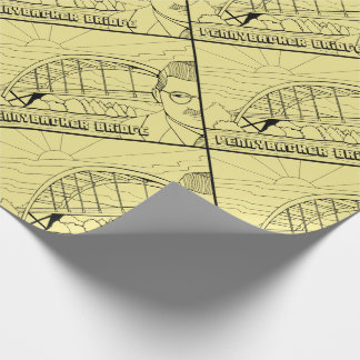 Pennybacker Bridge Line Art Design Wrapping Paper