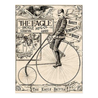 Pennyfarthing Old' Timey Victorian Bicycle Ad Postcard