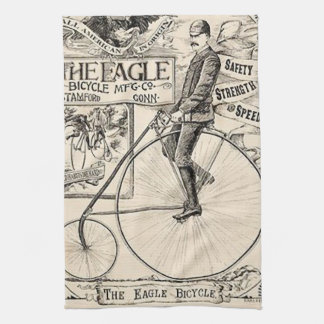 Pennyfarthing Old' Timey Victorian Bicycle Ad Tea Towel