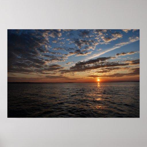 Penobscot Bay Sunset poster - 1