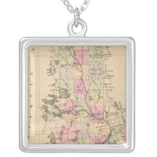 Penobscot County, Maine Silver Plated Necklace