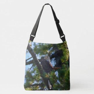 Penobscot River Bald Eagle III Crossbody Bag