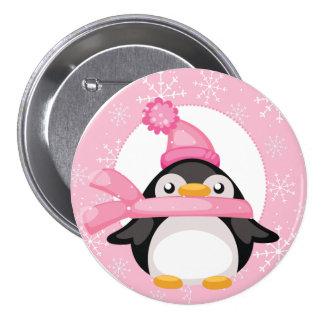 Penquin and Snowflakes 7.5 Cm Round Badge