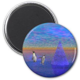 Penquinland 6 Cm Round Magnet