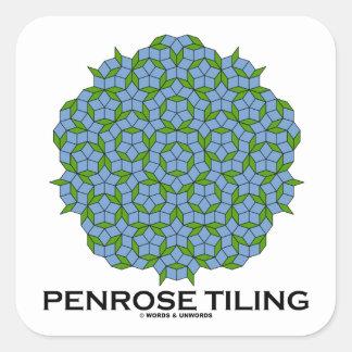 Penrose Tiling (Five-Fold Symmetry) Square Stickers