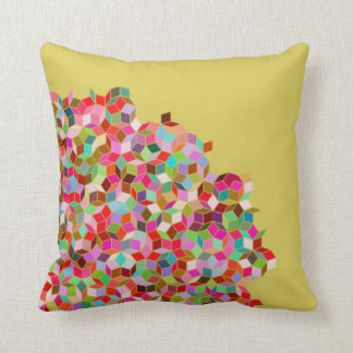 Penrose Tiling Pillow (Pink and Beige)