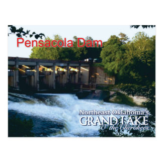 Pensacola Dam...Grand Lake OK post card