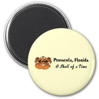 Pensacola Florida Crab 6 Cm Round Magnet