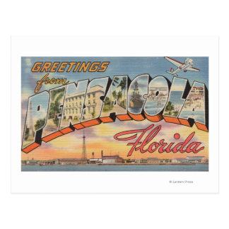 Pensacola, Florida - Large Letter Scenes 2 Postcard