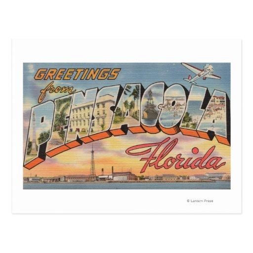 Pensacola, Florida - Large Letter Scenes 2 Postcards