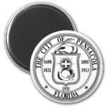 Pensacola Seal 6 Cm Round Magnet