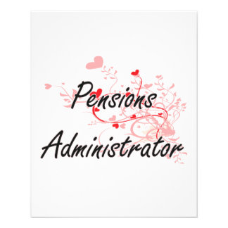 Pensions Administrator Artistic Job Design with He 11.5 Cm X 14 Cm Flyer