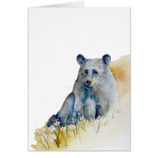 Pensive Blue Bear Card