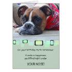 Pensive Brindle Boxer Card