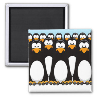 Pensive Penguin Army Magnet