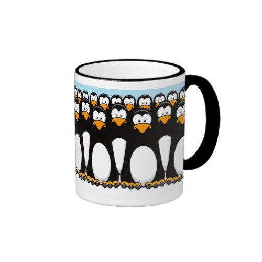 Pensive Penguin Army Mug