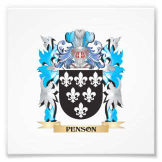 Penson Coat of Arms - Family Crest Photo Print