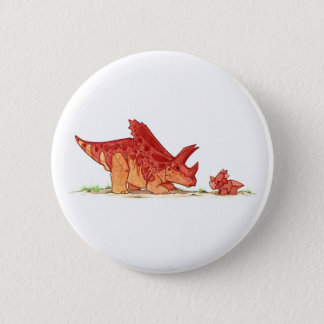 Pentaceratops and Toy 6 Cm Round Badge