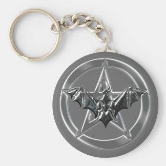 Pentacle Bat Key Ring