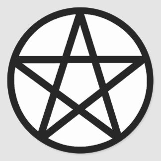 Pentacle Classic Round Sticker