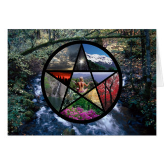 Pentacle Collage card