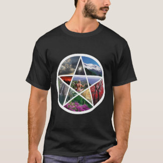 Pentacle collage wht T-Shirt