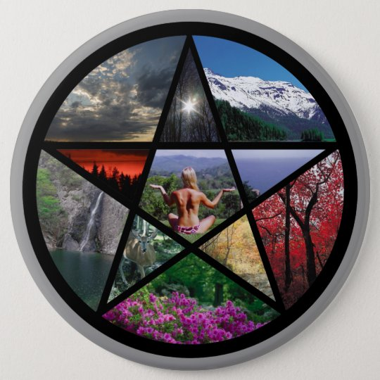 Pentacle Collagebutton 6 Cm Round Badge