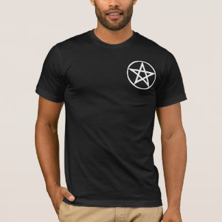 Pentacle Large on Blk T-Shirt